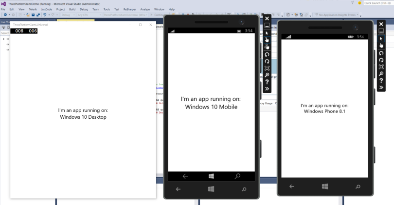One XAML for UWP, Windows 8 1 and Windows Phone 8 1 – Windows